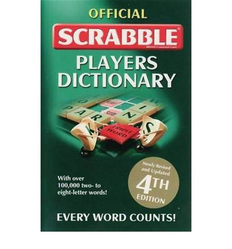 scrabble dictionary re official scrabble players dictionary 9781741846256