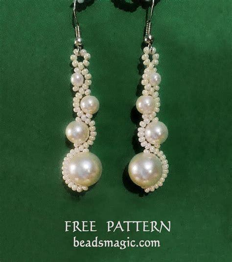 free earring patterns seed free pattern for earrings white moon magic bead