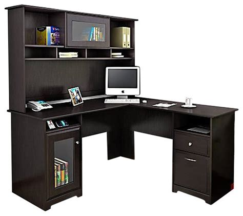 bush l shaped desk bush l shaped desk with hutch whitevan