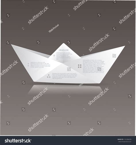 origami sign vector paper origami boat paper sign stock vector