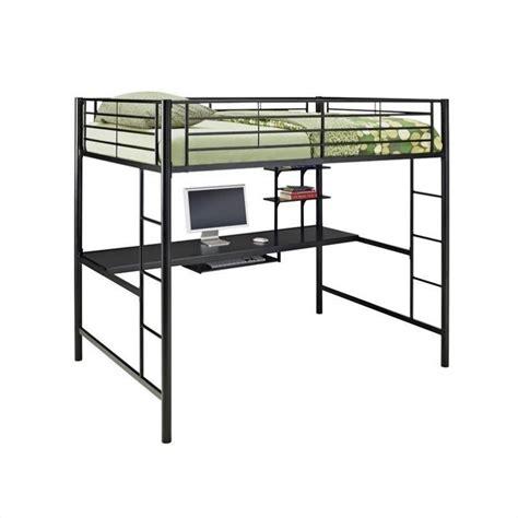 workstation bunk bed walker edison metal workstation bunk bed in
