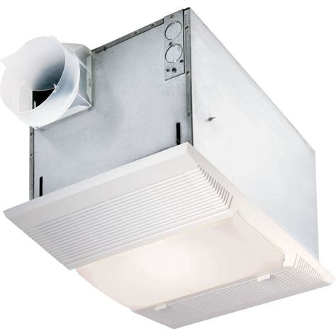 bathroom exhaust fan with light and heater broan nutone deluxe bath fan and heater with light 9965