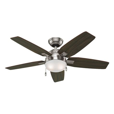 nickel ceiling fan with light antero 46 in indoor brushed nickel ceiling fan
