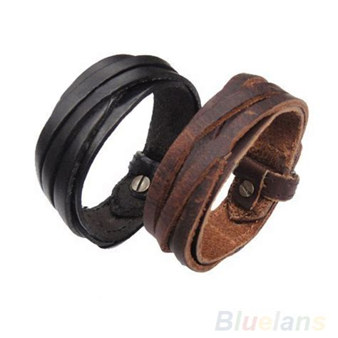 leather wristbands for unisex multi braided thin leather bracelet wristband jewelry items 00js in charm