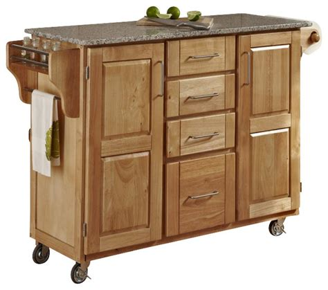 island kitchen carts home styles furniture salt and pepper granite kitchen cart