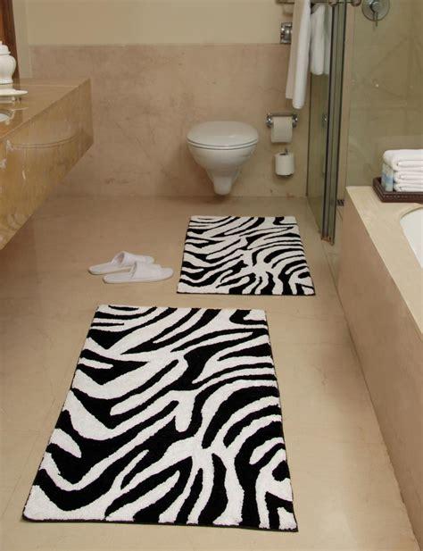 Black White Bathroom Rugs by Black And White Bath Rug Best Decor Things