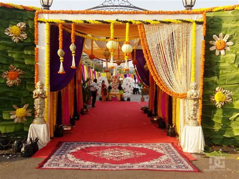 Hindu Decorations For Home wedding decoration outdoor entrance decoration