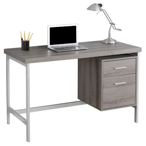 metal computer desk computer desk with drawers silver metal taupe