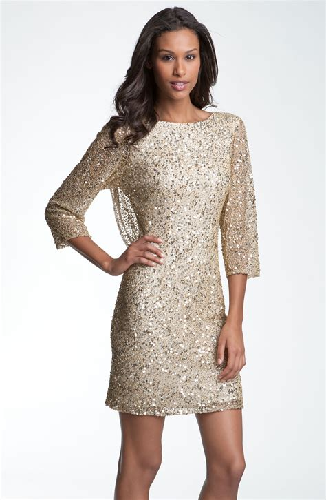 sequin beaded dress pisarro nights cowl back sequin bead dress in gold