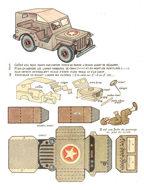 paper craft model another of history jeep papercraft