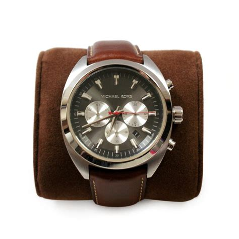 mens leather watches michael kors brown genuine leather india mens mk8294 michael kors mk8294