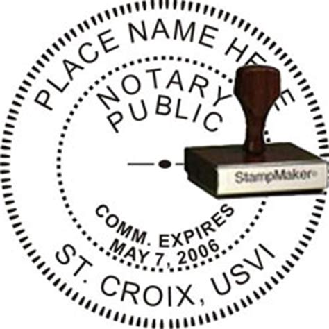 notary rubber st notary seal wood st islands thestmaker