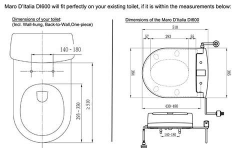 Villeroy Boch Subway Toilet Installation Instructions by Maro D Italia Di600 Premium Italian Design Toilet Bidet Seat