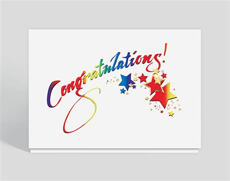 how to make a congratulations card sparkling congratulations card 300041 business