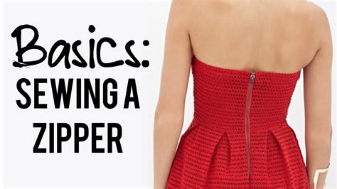 how to sew on a dress basics how to sew a zipper in the back of a dress