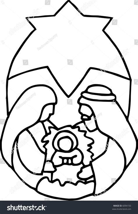 baby jesus in the crib baby jesus in the crib stock vector illustration 6094150