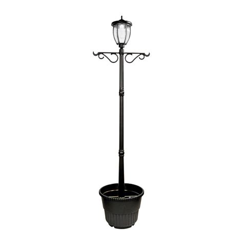 solar powered post lights for outdoors nature power solar powered outdoor led black l post