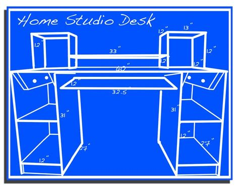 build your own studio desk 100 build your own studio desk plans anyone