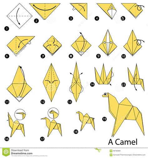 origami camel step by step how to make origami a camel
