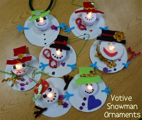 kid ornament craft ideas choices for children votive snowman ornaments