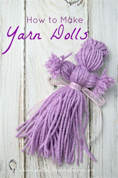 easy yarn crafts for 25 unique yarn dolls ideas on chicken