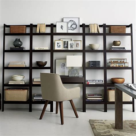 leaning bookshelf desk wall ideas bookcases and desks on