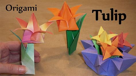 origami stem and leaf origami tulip leaf and stem