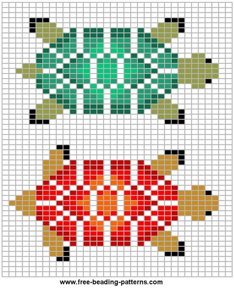 perler bead turtle pattern basic turtle bead patterns