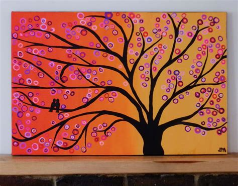 easy acrylic painting ideas trees abstract drawing last i completed another tree