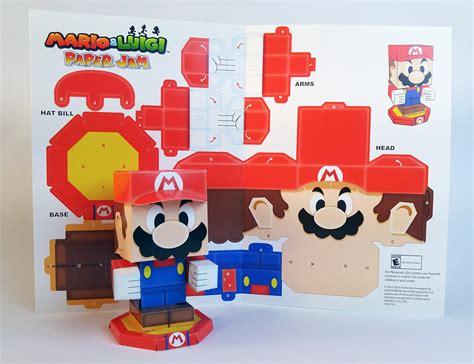 mario paper craft mario luigi paper jam papercraft premium on behance