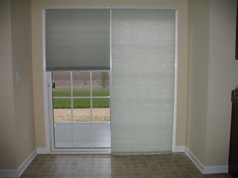 shades for sliding glass doors sliding doors with cell shades