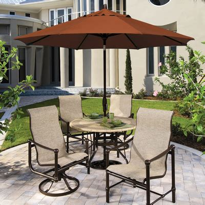 patio umbrella set choosing the best outdoor patio set with umbrella for your
