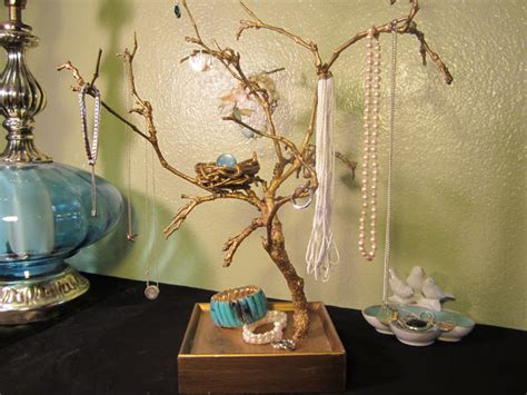 how to make a jewelry tree shades of tangerine jewelry tree diy