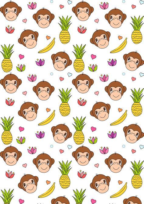 for free to print free digital monkey scrapbooking paper ausdruckbares