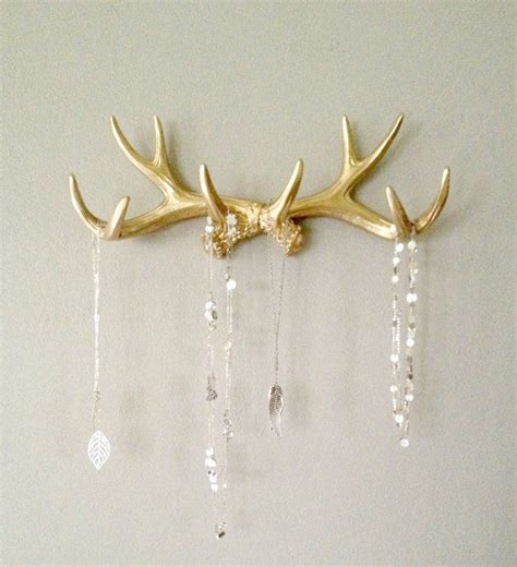how to make antler jewelry gold faux deer antler rack jewelryand necklace by