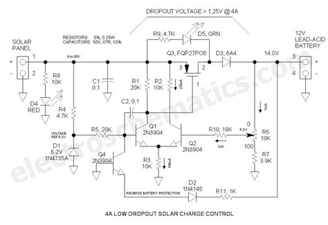 solar light schematic 12v solar charge controller circuit