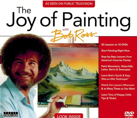 bob ross paints new new pbs the of painting with bob ross 10 dvd set as