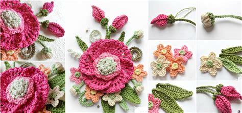 knitted bouquet pattern crochet flower bouquet