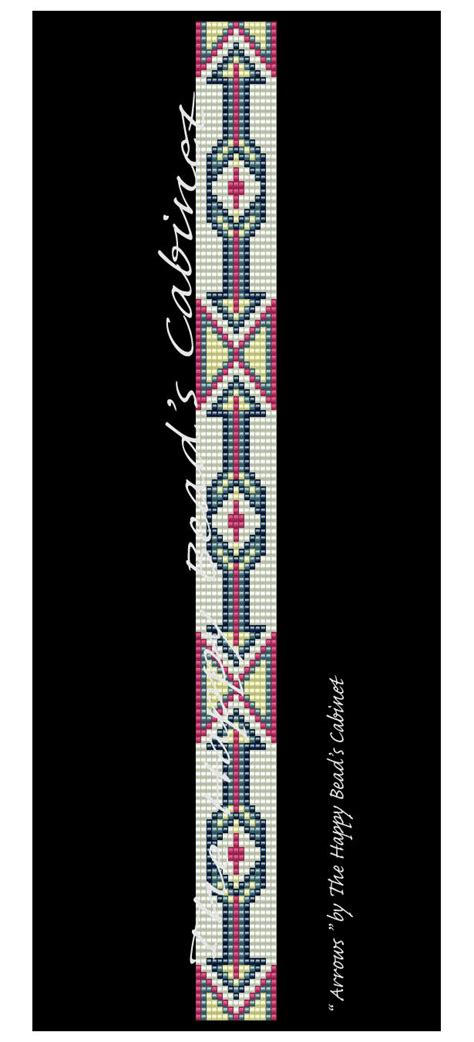 beaded hat band patterns beaded hat band band loom peyote pattern arrows