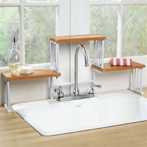 2 tier the sink shelf kitchen faucet space saver