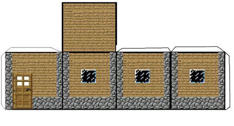 paper craft house papercraft mini minecraft npc smaller house