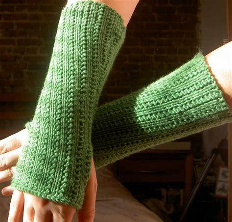 knitted warmers free patterns schrodinger knits supple rib knit arm warmers