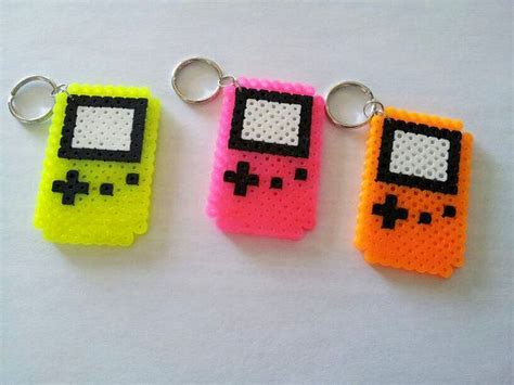 perler gameboy neon gameboy color perler keychains by geekynotions on