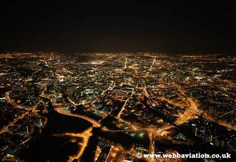 nights manchester aerial photographs of manchester by aerial photographer