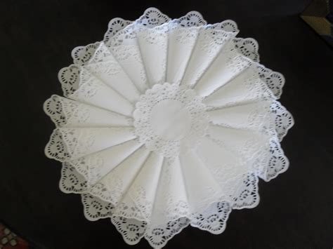 Make A Paper Doily Cone Wreath 187 Dollar Store Crafts