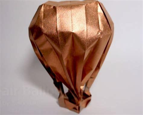 origami air balloon how to make an origami air balloon balloonteam net