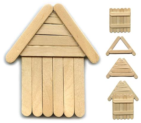 house craft ideas for another popsicle stick house projects for