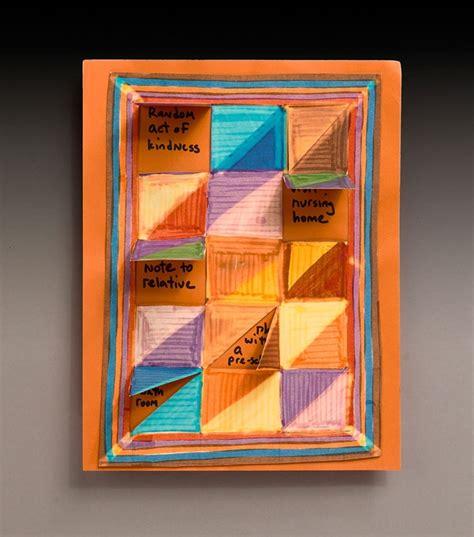 kindness crafts for kindness calendar quilt craft crayola