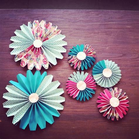 decorations for to make with paper how to make paper fan decorations parenting living
