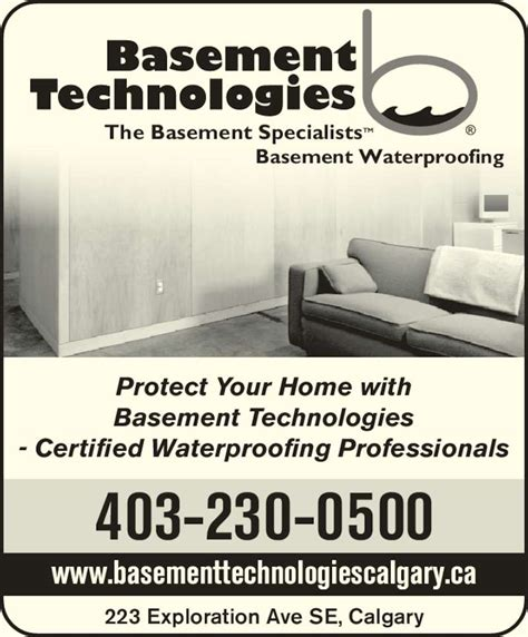 basement waterproofing technologies basement technologies calgary ltd opening hours 223